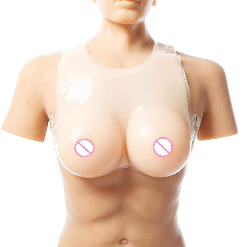 Hot Sale 40DD/42D Cup Size L Realistic Silicone Breast Forms Strap Fake Boobs False Breasts Bust Enhancer for Crossdresser newly silicone breast forms false breasts enhancer fake boobs shemale crossdresser artificial breast size s skin color c cup