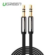 Ugreen Высокое качество Джек 3.5 Автомобилей AUX Кабеля Мужчина к Мужчине 3.5 мм Аудио Кабель 1 М 2 М 3 М 5 М для iPhone Таблетки Для Наушников Amplifer