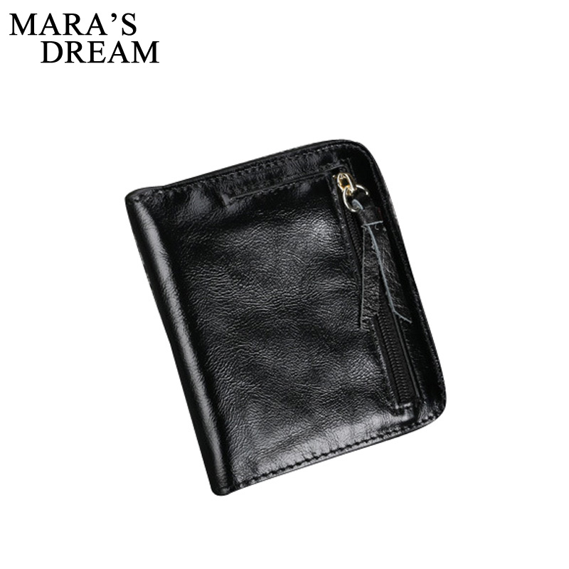 Mara's Dream 2017 Vintage Genuine Leather Women Wallet Bifold Wallets ID Card Holder Coin Purse With Zipper Small Women's Purse zelda wallet bifold link faux leather dft 1857