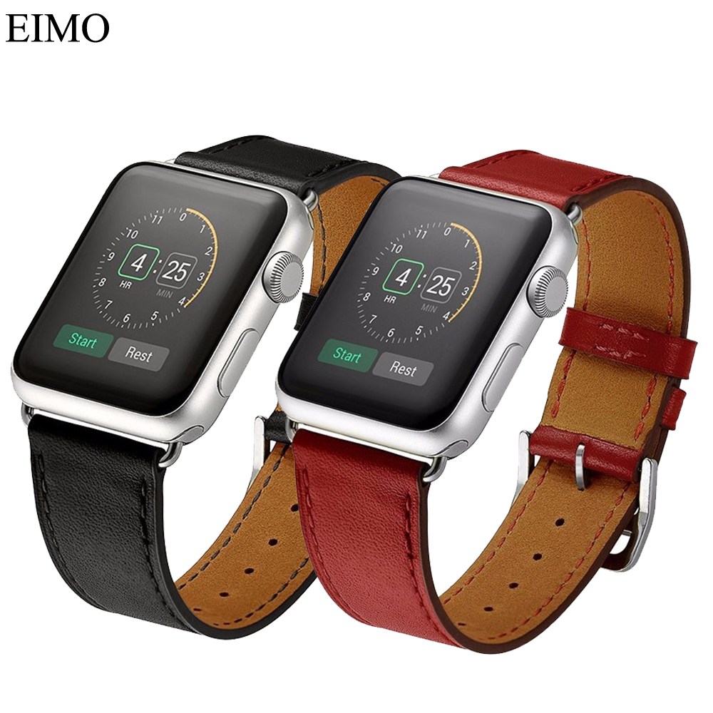 Watch Strap For Apple Watch band 42/38mm bracelet watchband Single Tour band Genuine Leather strap for apple watch iwatch 3/2/1 istrap black brown red france genuine calf leather single tour bracelet watch strap for iwatch apple watch band 38mm 42mm
