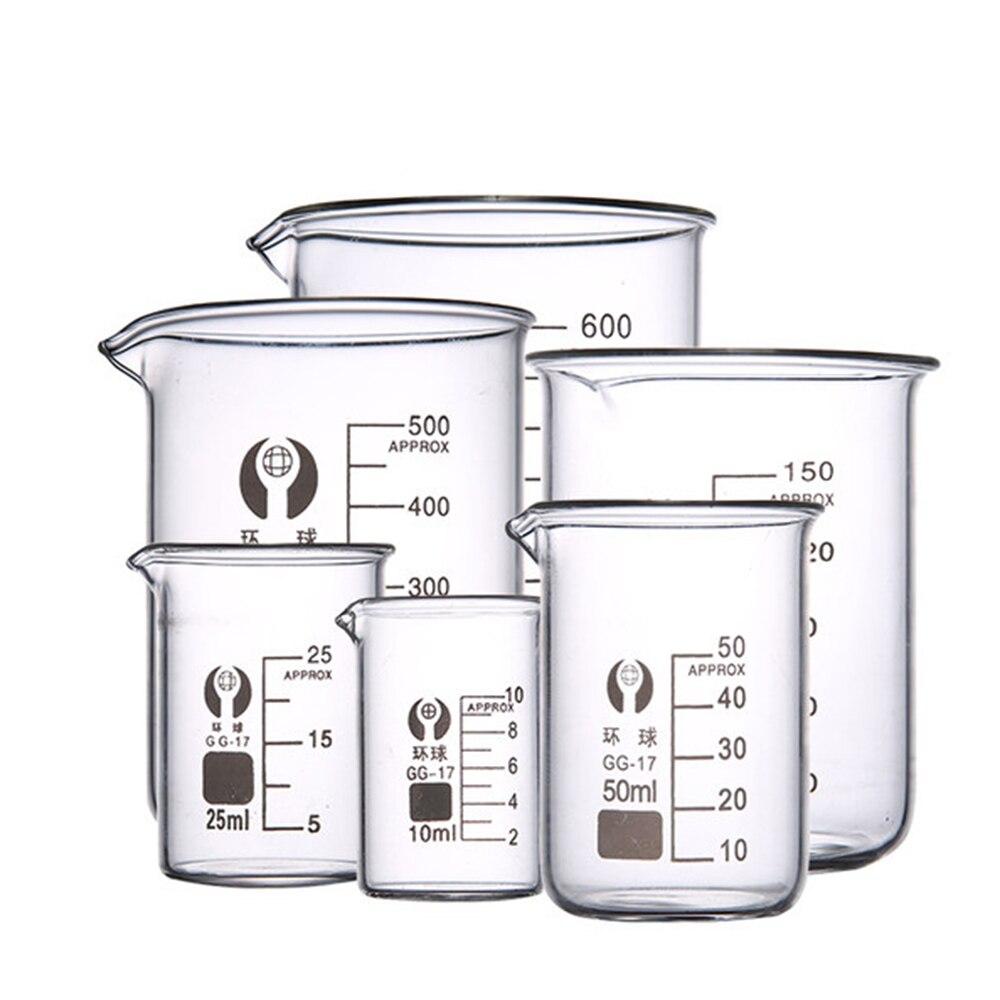 Copo de vidro 50ml250ml500ml copo de medição de vidro 50ml grande quantidade de melhor copo de vidro yuewo beaker 100ml