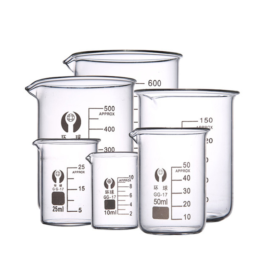 YUEWO Beaker Glass Beaker 100ml Glass 50ml250ml500ml Glass Measuring Cup 50ml Large Amount Of Best