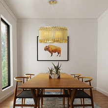 Modern LED Pendant light Brightknight gold color G9 lamp Aluminum Alloy Tube Contemporary Suspension Luminaire Project hanglamp italy design brubeck led gold aluminum alloy tube pendant lights lamps suspension luminaire restaurant hotel lobby project light