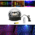 Mini RGB Stage Light LED MP3 DJ Club Pub Disco Party Music Crystal Magic Ball Stage Effect Light With USB Disk Remote Control