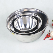 DUH 1-piece Ingredients Standby Bowls Mixing Bowl Stainless Steel DIY Cake Bread Salad Mixer Kitchen Cooking Tools