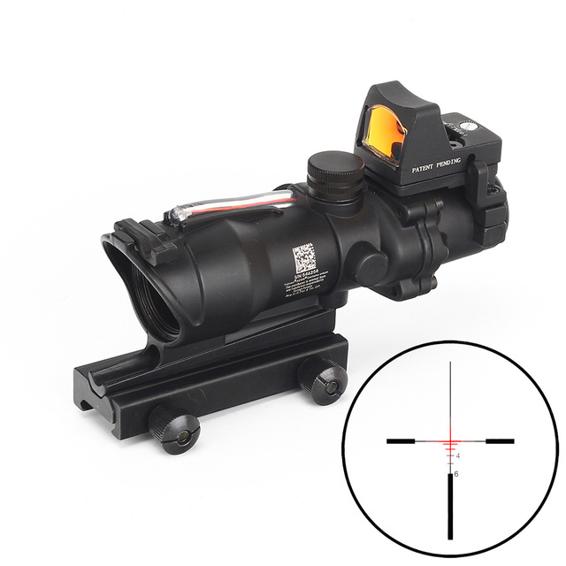 Hunting ACOG 4X32 Scope Real Fiber Source Red Green Orange Illuminated Scope Black Tan Color Tactical Riflescope for RifleHunting ACOG 4X32 Scope Real Fiber Source Red Green Orange Illuminated Scope Black Tan Color Tactical Riflescope for Rifle