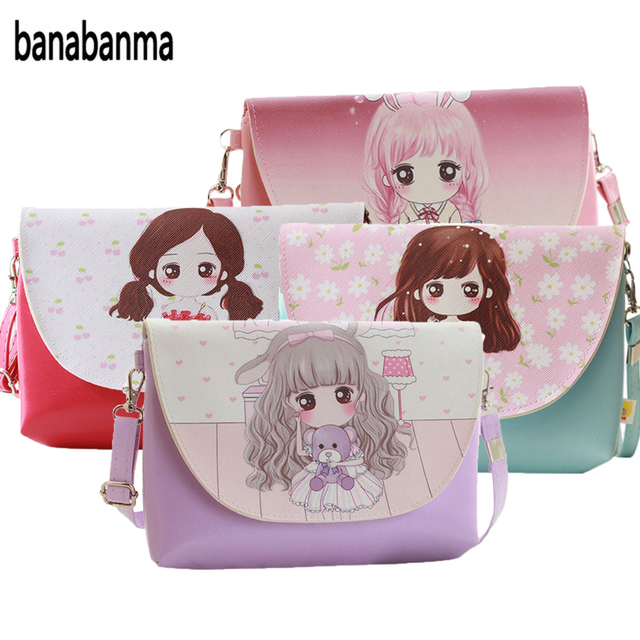 banabanma Cartoon Printing Kids Baby Messenger Bags Clutch Women Crossbody  Bag Female Shoulder bags for Girls