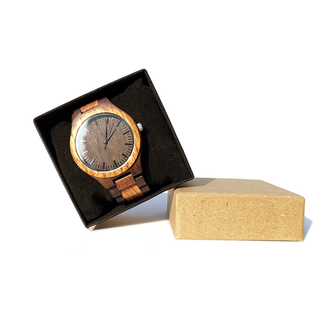 To My Boyfriend The Day I Met You I Found My Missing Piece ENGRAVED WOODEN WATCH 5