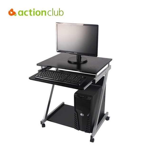Merveilleux Actionclub Adjustable Computer Desk Domestic Shipping USA Movable Sliding  Keyboard Tray Inexpensive Home Office Computer Desk