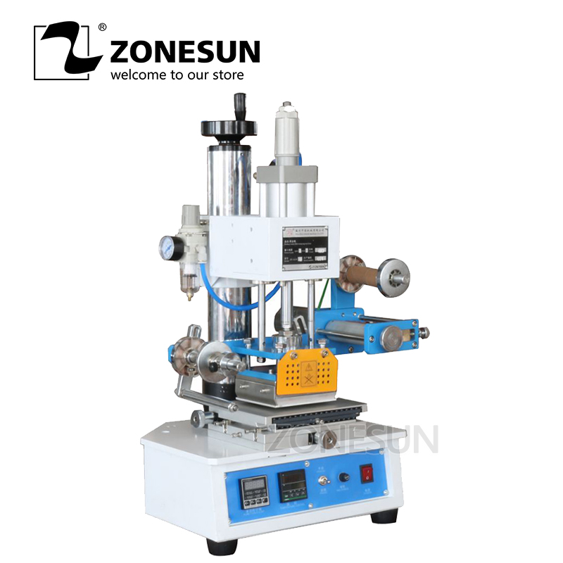 ZONESUN High Frequency LOGO Plastic Leather Heat Press Hot Foil Stamping Embossing Creasing Machine Tipper Printing Machine