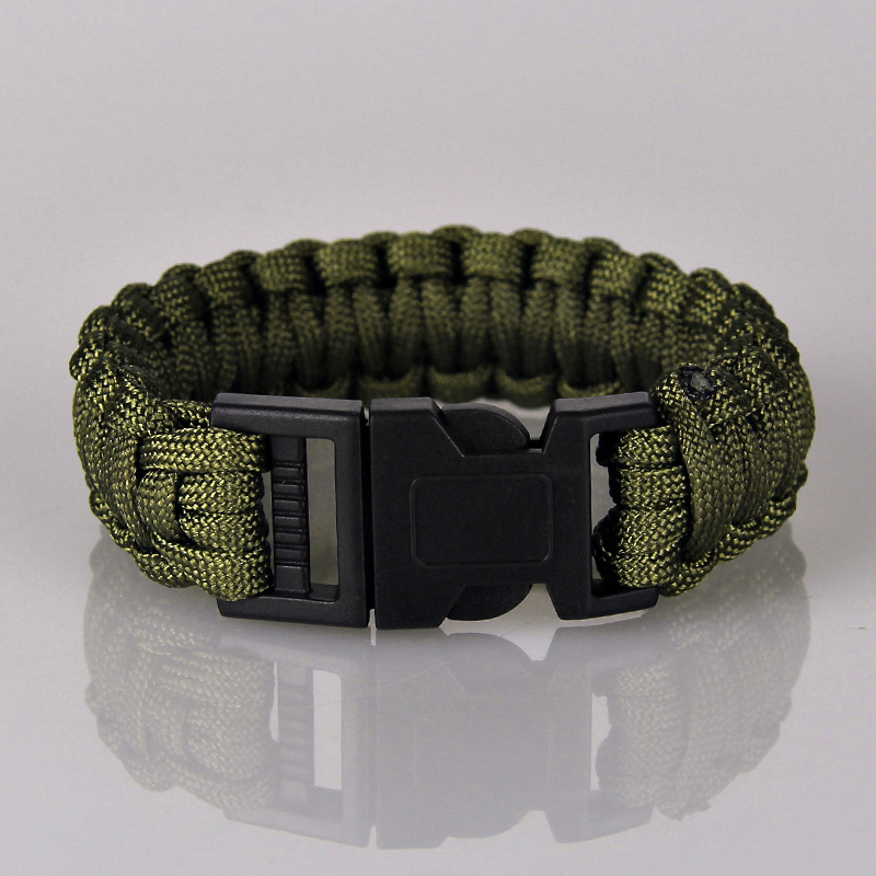 Fashion Kit Military Emergency Paracord Bracelets For Men Women Parachute Cord Survival Bracelet Male Braided Jewelry Multicolor In Charm From