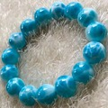 14mm Natural Larimar Stone Bracelet Women Men Party Accessories Gift Powerful Stretch Round Beads Crystal Bracelet Jewelry