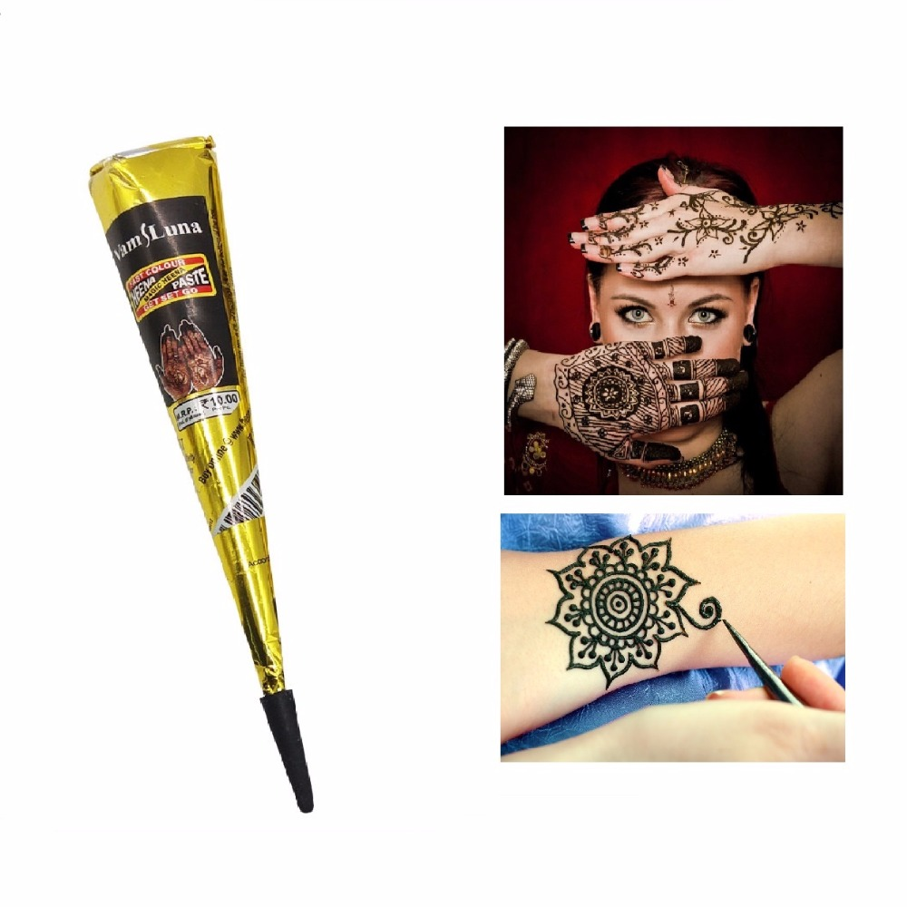 Henna Tattoo Paste Cost: 1X Black Indian Henna Paste Cone Beauty Women Mehndi