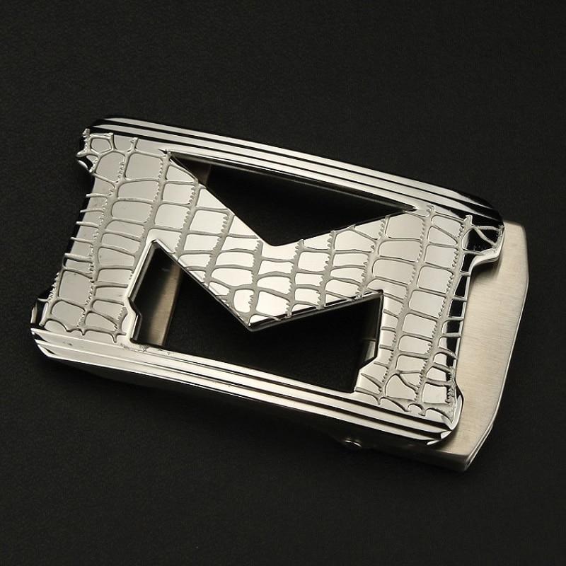 M Belt Pin Buckles Designer INITIAL Me Logo Belt Buckle Sliver Gold Buckle 38mm