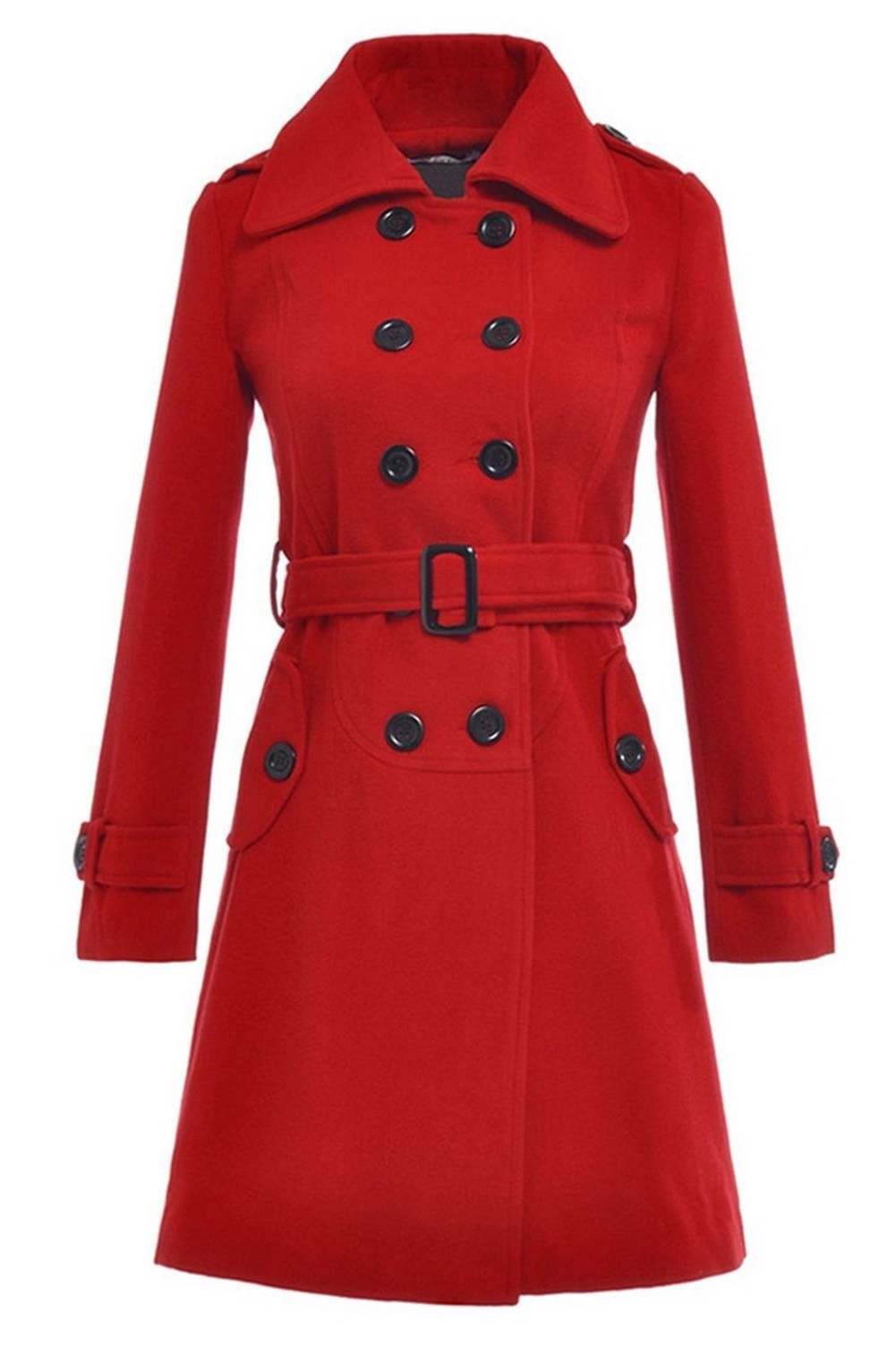 Popular Long Red Coat-Buy Cheap Long Red Coat lots from ...
