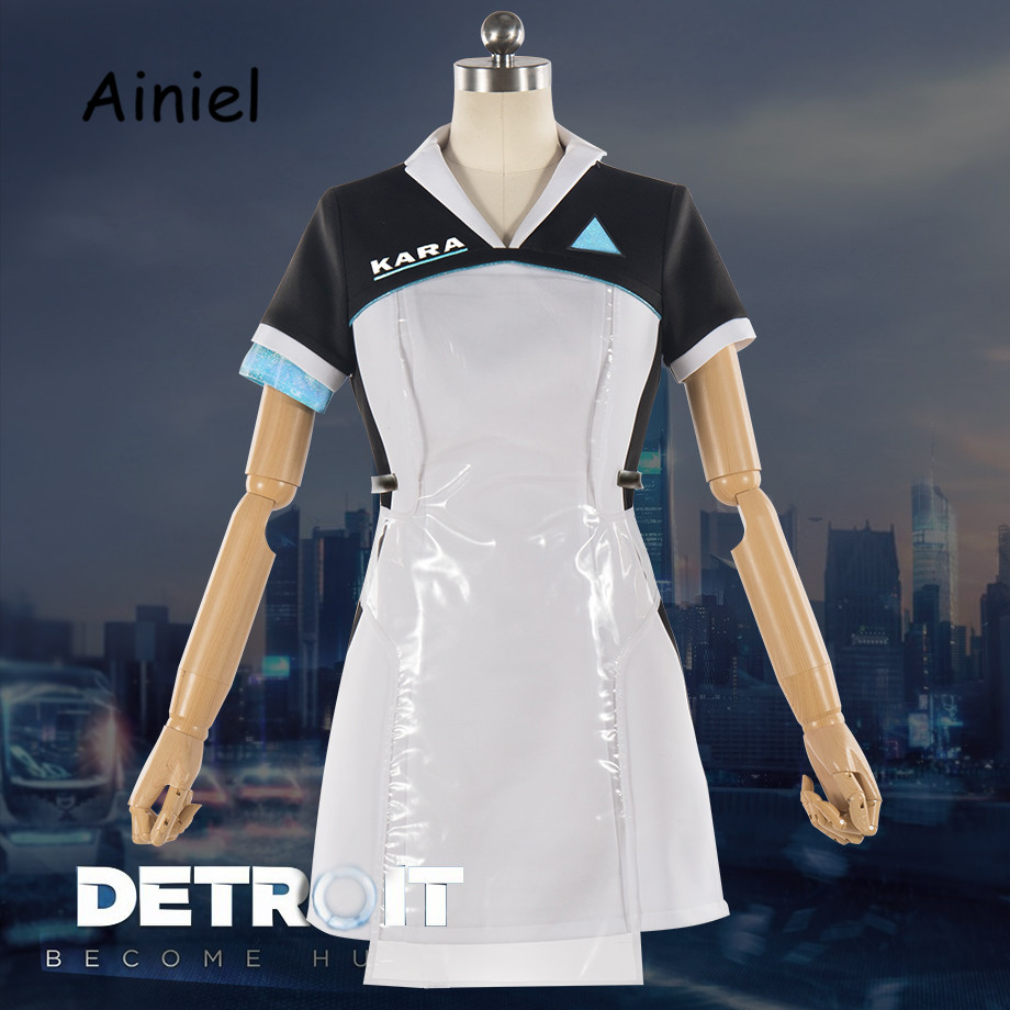 Game Detroit: Become Human Suit KARA Cosplay Costume Code AX400 Agent Outfit Girls Women  Dress Halloween Uniforms Custom Made