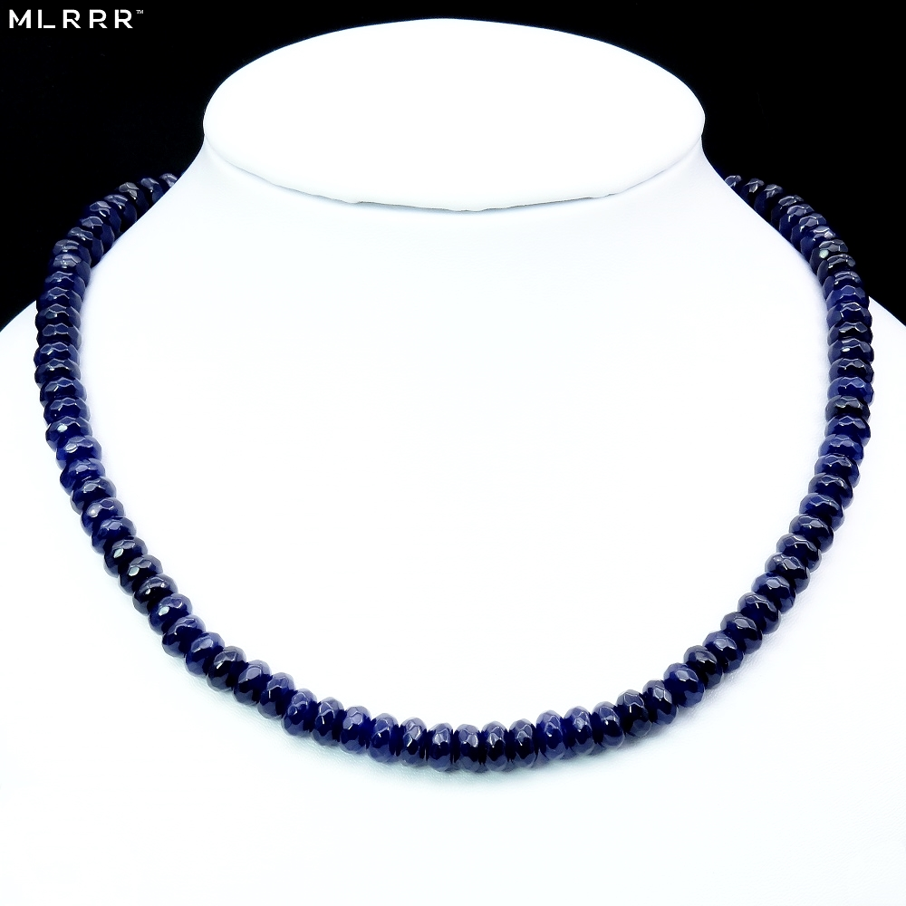 Vintage Classic Natural Stone Jewelry Elegant Noble Sapphires Gems Beaded Chain Choker Necklace kurt adler 4 1 2 inch noble gems glass toaster ornament