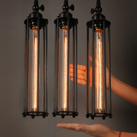 Vintage Country Retro Pendant Lights Steam Punk Industrial Style Single Head With Edison Light Bulb Corridor