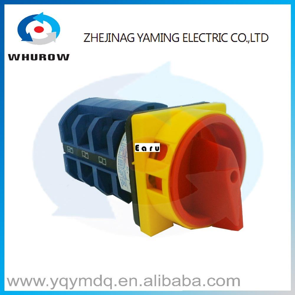 LW26-63/3GS High quality dc voltage automatic electrical changeover rotary cam switch three poles 63A sliver point contacts цена