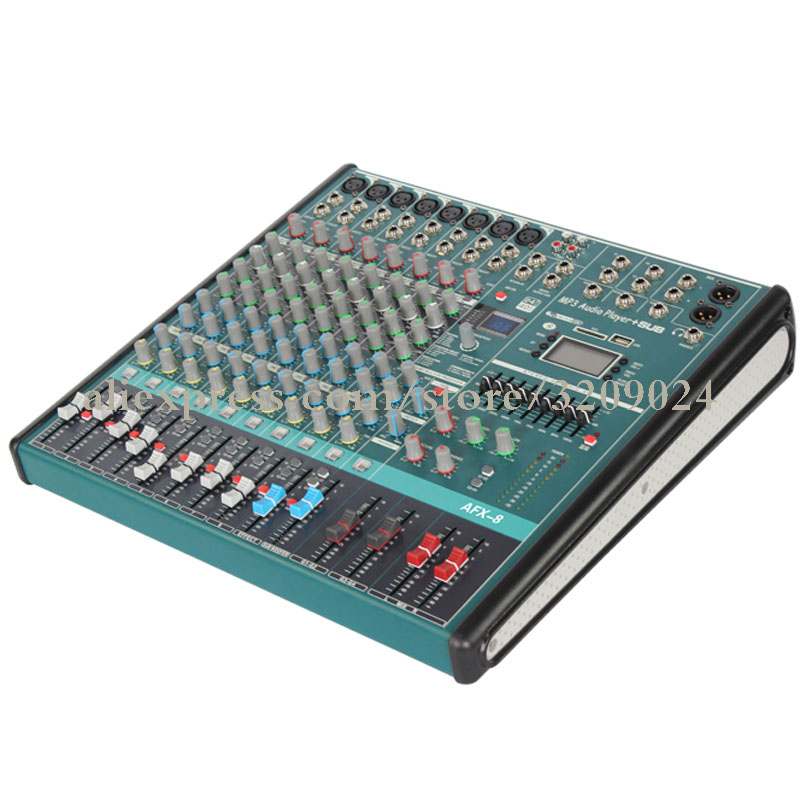 Mixer 8 Channel with Bluetooth USB Digital Reverb Wedding Stage Performance 9 Segment Balanced Group Tuner Karaoke MicrophoneMixer 8 Channel with Bluetooth USB Digital Reverb Wedding Stage Performance 9 Segment Balanced Group Tuner Karaoke Microphone