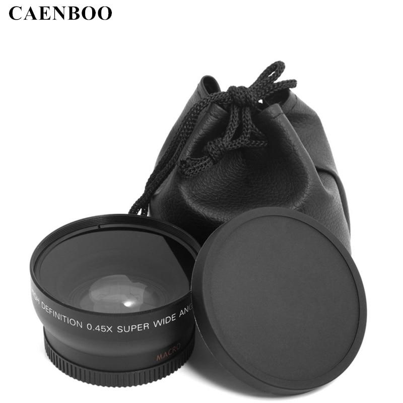 CAENBOO 37mm 43mm 46mm 49mm 52mm 55mm 58mm 62mm 67mm 72mm Lens Wide Angle  Conversion Wide-Angle Camera Lens With Macro Lens