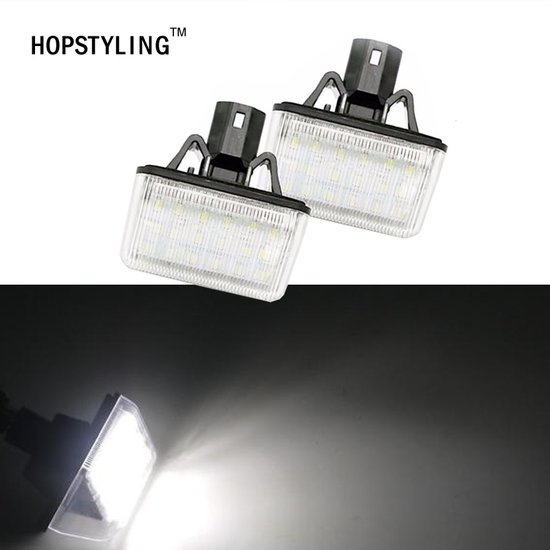 HOPSTYLING 2x Xenon White Bulb Replacement LED License Plate Lights For Mazda CX-5 CX-7 Mazdaspeed6 Mazda6 Sedan Car Lighting 2pcs car led license plate lights 12v white smd3528 led number plate lamp bulb kit for ford focus c max 03 07