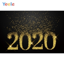 Yeele 2020 New Year Family Photocall Bokeh Glitters Photography Backdrops Personalized Photographic Backgrounds For Photo Studio