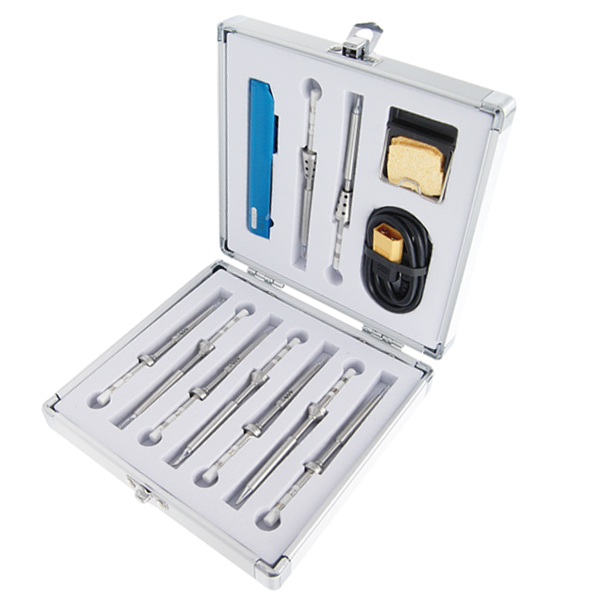 12 In 1 TS100 Soldering Iron Kit + 9pcs Tips 1pcs XT60 Cable 1pcs Holder Soldering Iron Set
