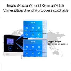 Image 5 - אלחוטי SIM GSM בית RFID פורץ אבטחת LCD מגע מקלדת WIFI GSM מעורר מערכת חיישן ערכת אנגלית, רוסית, ספרדית קול