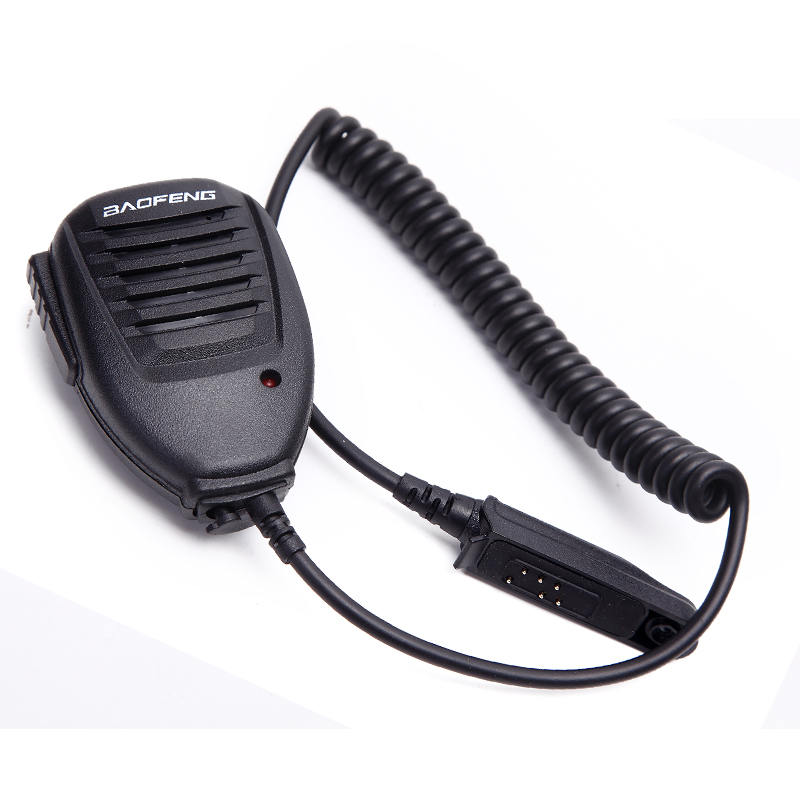 PTT Shoulder Speaker Microphone For BAOFENG A58 BF-9700 UV-9R Plus V-XR GT-3WP R760 82WP Waterproof Walkie Talkie Ham Radio Mic
