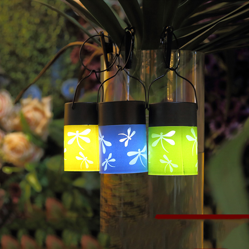 3 Colors Lots Waterproof Decorative Dragonfly Solar Powered LED String  Lights Outdoor Garden Patio Lantern Decoration Lightings