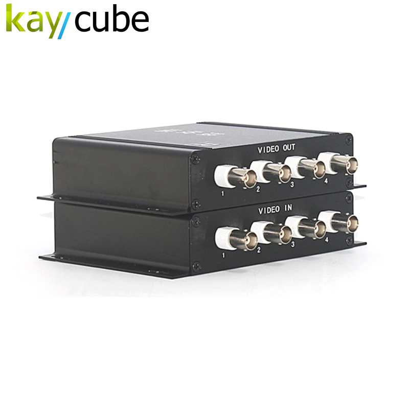 Up To 600m Transmission Distance Security System 4CH Video Multiplexer For CVBS CCTV Camera Kaycube
