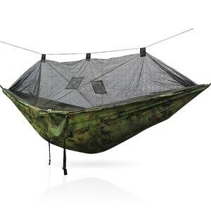 Image 4 - 安全屋外屋外折りたたみポータブルキャンプハンモックテント