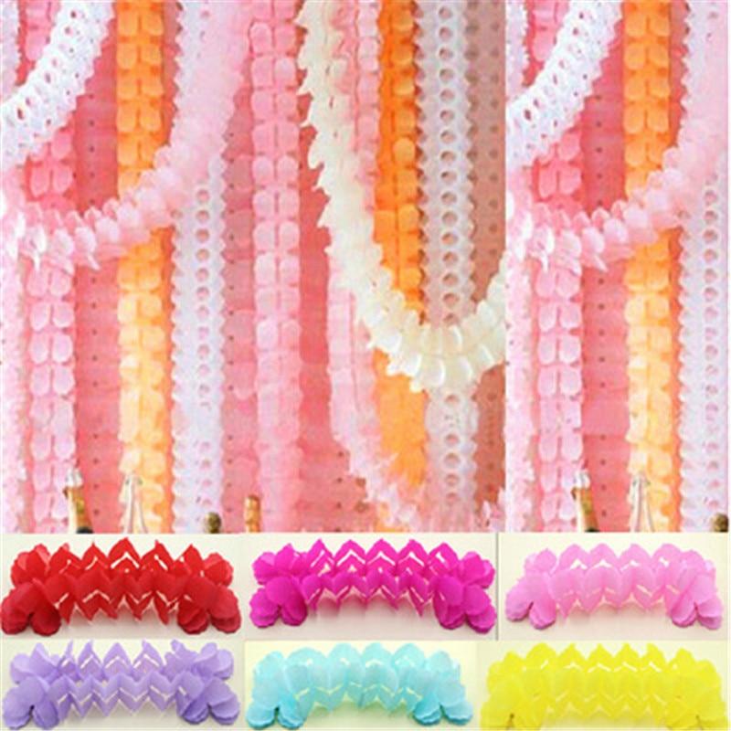 1pc 3.6m Four Leaf Clover Paper Garlands DIY Hanging Banners Garlands Backdrop Decor Baby Shower Birthday Wedding Party Favor 8Z