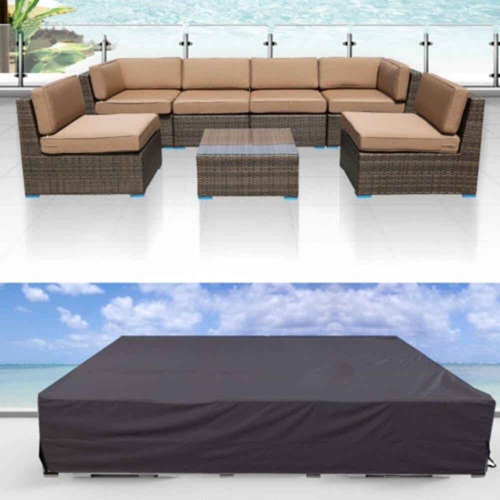 124x63x29u0027u0027 Outdoor Water Resistant Garden Patio Coffe Table Desk Wooden  Chair Furniture Wicker Sofa Cover Waterproof
