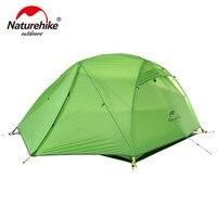 Naturehike звезда реки палатка 20d силиконовые Ткань Сверхлегкий 2 человек двухслойные Алюминий стержень палатка с Коврики