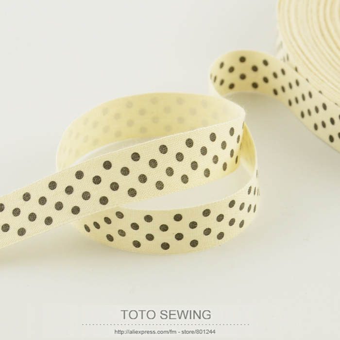 Wholesale 1.5CM width mini.order is $5 (mix order) little dot label Zakka cotton ribbons sewing tapes TOTO sewing accessory