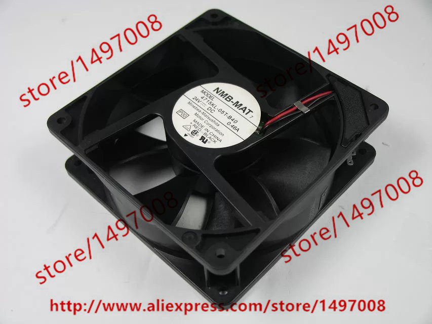 NMB-MAT 4715KL-05T-B40 P00 DC 24V 0.46A 120x120x38mm Server Square Fan free shipping for nmb bg1203 b058 p00 l2 dc 24v 1 30a 3 wire 3 pin connector 50mm 120x120x32mm server blower cooling fan