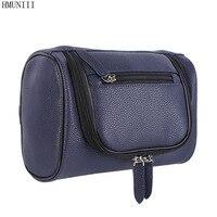 HMUNII Brand PU Cosmetic Bag Men And Women Travel Organizer High Quality Designer Professional Make Up