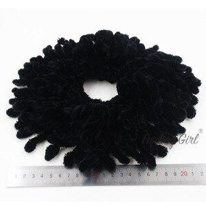 Image 4 - Пушистая девочка, 1 шт., мусульманские женские модные резинки, эластичные резинки для волос, большой размер, вязаные шерстяные волосы, конский хвост, держатель для пучков