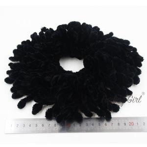 Image 4 - Furling Girl 1PC muzułmanki moda Scrunchies elastyczne gumki do włosów duży rozmiar dziania wełny peruka z kucykiem spinka do koka
