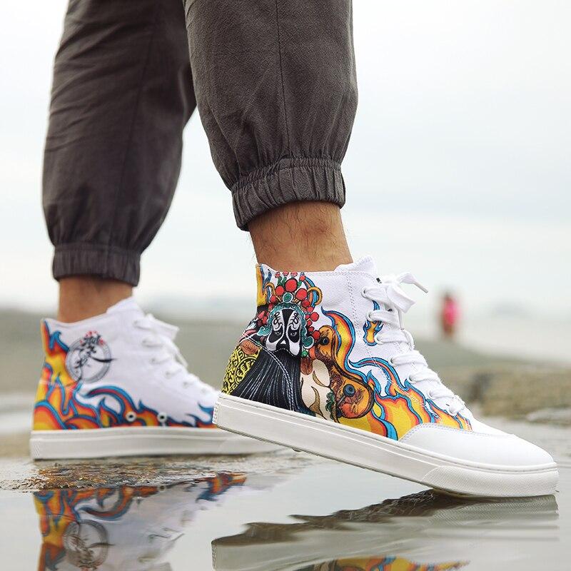 Graffiti Original Moda Sapatos Chu's Ocidental Rua Trabalhar Homem Idx Confortável Chinês Rei ZqtRa0