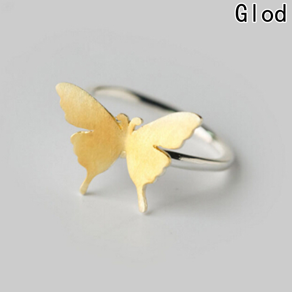 Silver Color Ring Gold Butterfly Ring Midi Pinkie Finger Toe Rings Anillo For Lady Women Christmas Jewelry