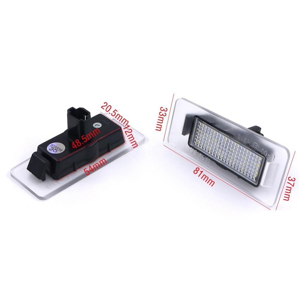 Eonstime 2pcs 6500k LED registrske tablice za Hyundai Elantra 2011 ~ - Avtomobilske luči - Fotografija 3
