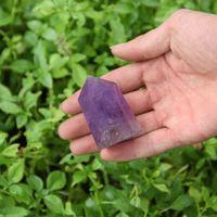 טבעי אמטיסט אבן הסתיים באחת רייקי ריפוי Point שרביט גביש Fengshui קישוט בית אובליסק כ 2
