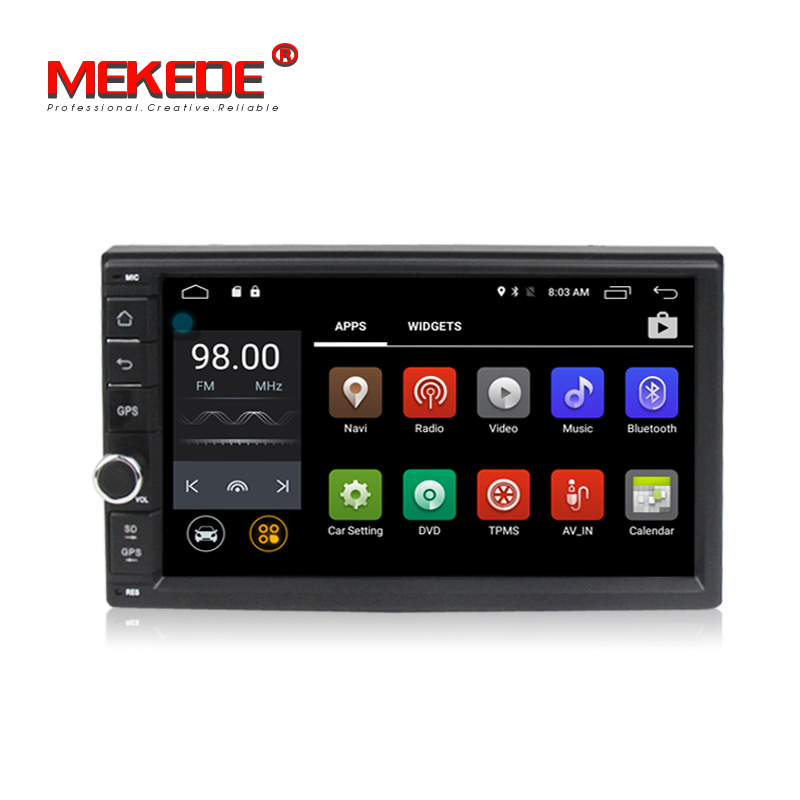 "7 "" Android 5.1.1 Quad Core Car tape recorder dvd player for 2 DIN universal car radio stereo with BT radio WIFI dvd GPS"