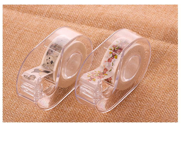 (1Pcs/Sell) Washi Tape Cutter Tape Dispenser Cute Stationary Supplies Packaging Tape Japanese Stationery Scrapbooking Tools