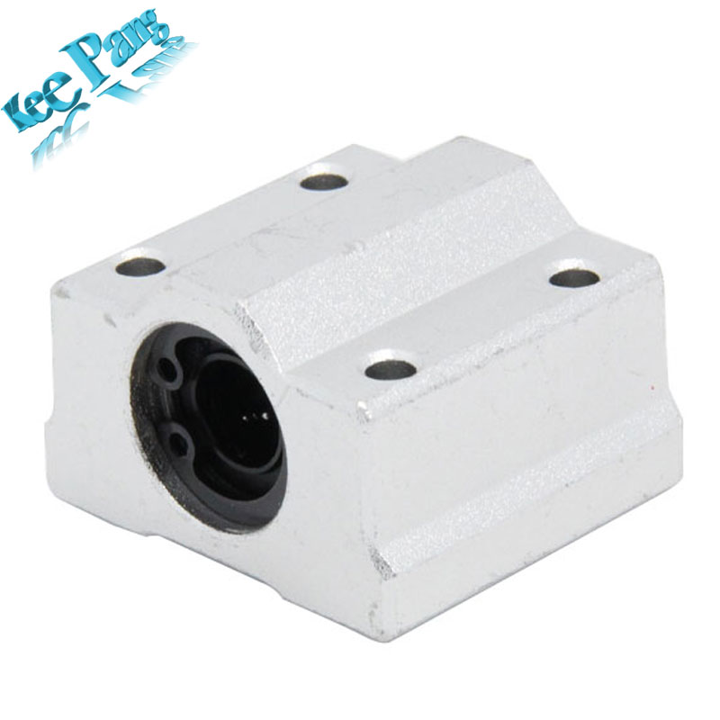 Kee Pang 4pcs/lot SC8UU SCS8UU Linear Ball Bearing 3D Printer XYZ Table Motion Bearing Slide CNC Part Router rodamiento lineales 1pcs linear motion ball bearings slide block bushing for scs8uu 8mm linear ball bearing block 3d printer part for cnc router