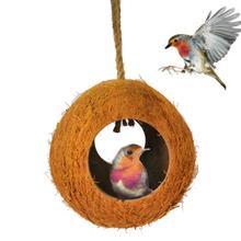 Кокосовая Скорлупа птица хомяк Гнездо Дом Домашнее Животное попугай Будды Висячие игрушки декор для клетки