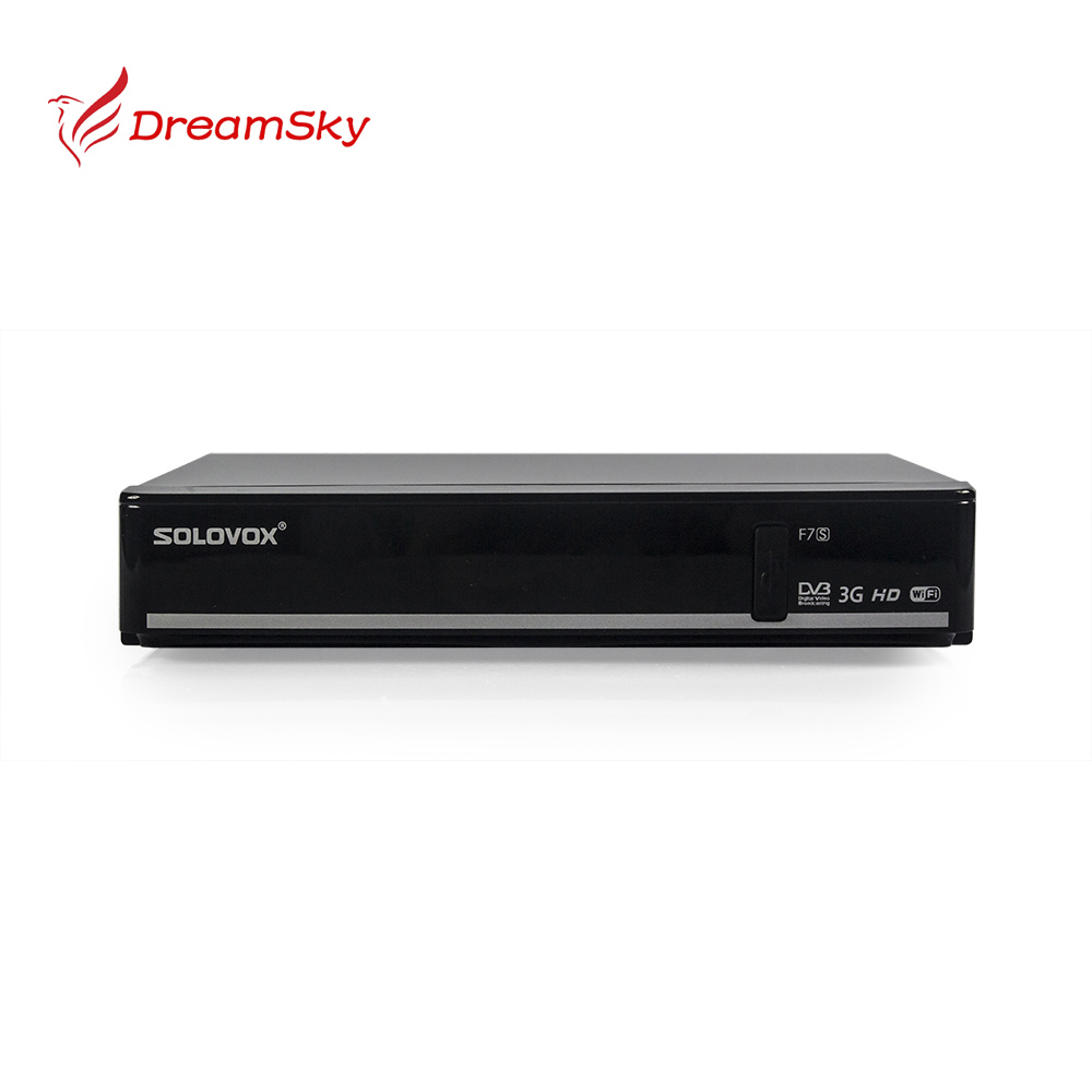 ФОТО New arrival Genuine SOLOVOX F7S DVB-S2 HD Satellite Receiver with AVoutput VFD Screen Support WEB TV USB Biss Key CCCAMD NEWCAMD